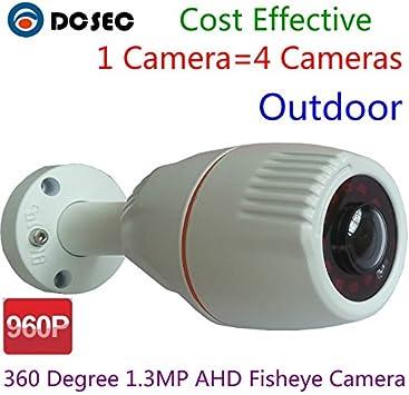 2.0MP 180 Degree Fisheye HD 1080P AHD Cam CCTV Camera waterproof IR night vision
