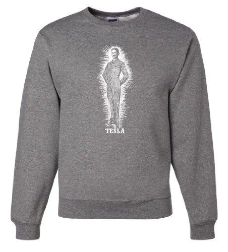 Nikola Tesla Small Portrait Crewneck Sweatshirt - Oxford 3X-Large