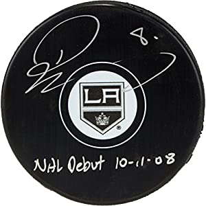 Drew Doughty Los Angeles Kings Autographed Hockey Puck with NHL Debut 10/11/08 Inscription - Fanatics Authentic Certified