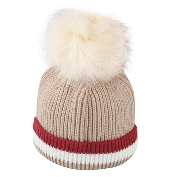 Damen Strickmütze Bommelmütze Häkelmütze Pudelmütze Beanie Hut Wintermütze Mütze