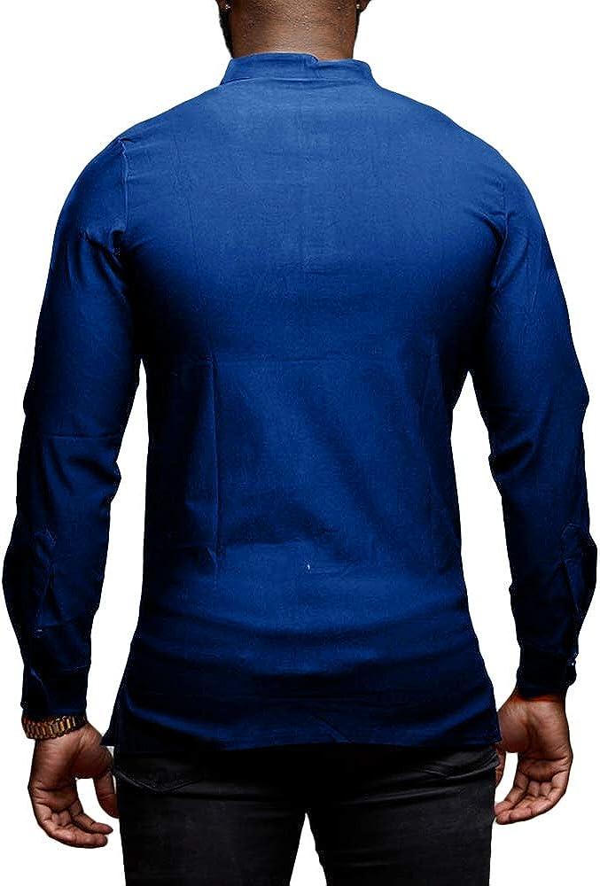 ARTFFEL Men Long Sleeve Print Button Up Regular Fit Dress Shirts