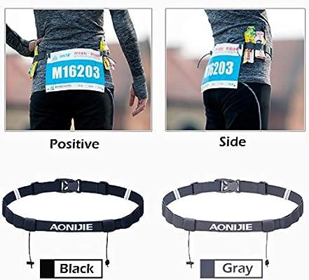 TRIWONDER Race Cintur/ón para N/úmero Porta Dorsal para Running Triatlon Maratones Unisex