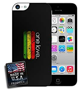 One Love Rastafari Rastafarian iPhone 5c Hard Case