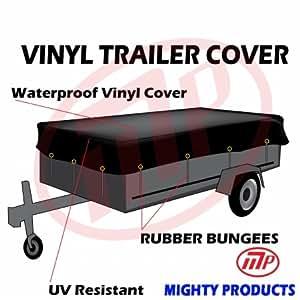 Xtarps UMT-VTT18-B2024 20 x 24 ft. Heavy Duty Waterproof Vinyl Trailer Tarp with Rubber Bungee - 18 oz, 10 Pieces