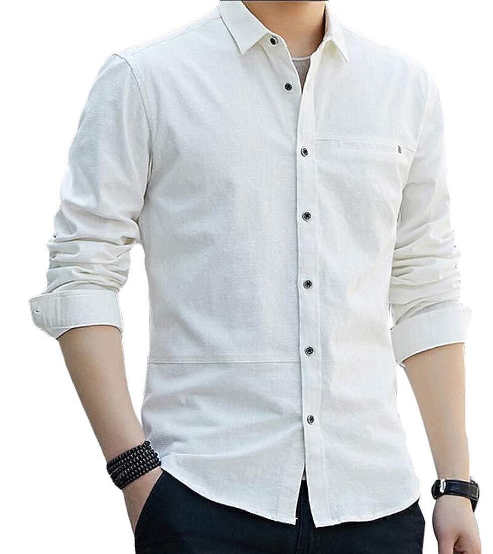 Gocgt Mens Casual Button Down Regular Fit Long Sleeve Oxford Shirts