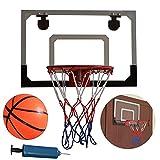 14' x 11' Kid Teenager Junior Wall Mount Clear Basketball Backboard INDOOR or OUTDOOR with Basketball & Pump Shatterproof Backboard