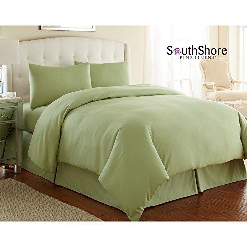 Southshore Fine Linens - 3 Piece Oversized Duvet Cover Set - SAGE GREEN - Full / Queen