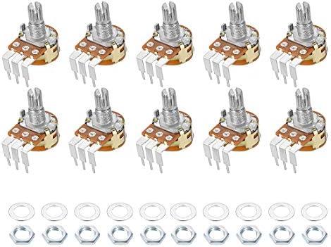 uxcell WH148 Potenciómetro con interruptor 500 K Ohm resistencias ...
