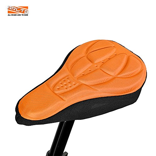Arltb Gel Bicycle Seat Cover 4 Colors Bike Seats Saddle Cover Cushion Pad Protector Soft Adjustable Non Slip for Mountain Bike Road Bike MTB Cycling Adjustable Soft Pads