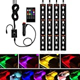 under light car - Car LED Strip Light, YANF 4Pcs 36 LED Music Car Interior Light Led Under Dash Lighting Kit Multicolor Floor Lights with Sound Active Function and Wireless Remote Control