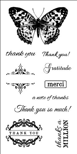 (Fiskars 3x6 Inch Clear Rubber Stamp, Many Thanks)