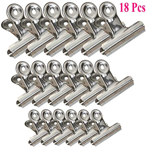 - Chip Clips Bag Clips Food Clips, 18 Packs 3 Sizes Heavy Duty Stainless Steel Clips for Bag, All-Purpose Air Tight Seal Clip Cubicle Hooks for Office School Kitchen