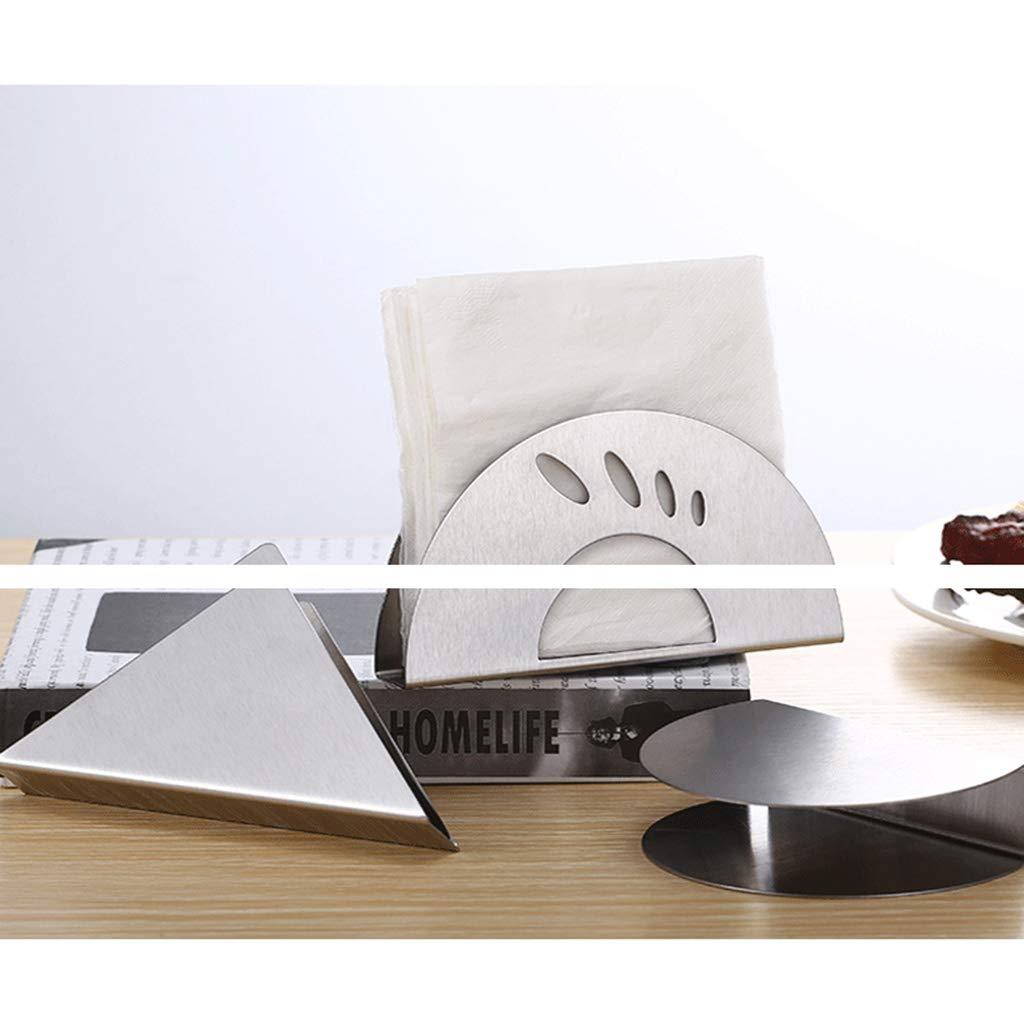 Servilletero de acero inoxidable con dispensador de papel para mesa de comedor o cocina JENOR