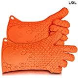 BBQ Grilling Gloves, Most Versatile Oven Mitts & Hot Pads. Lifetime Warranty! Loved By Andrew Zimmern & Martha Stewart, Insulated & Waterproof. Total Finger, Hand, Wrist Protection! 3 Sizes - Ekogrips
