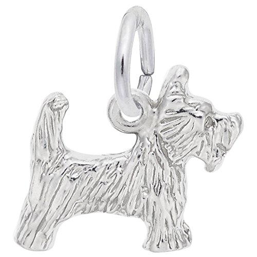 Rembrandt Dog - Scottie Dog Charm In Sterling Silver, Charms for Bracelets and Necklaces
