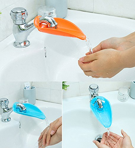 Aipleril Faucet Extender – Pack of 2 Silicone Sink Handle Extender Hand Washing For Toddlers, Kids, Babies