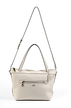 Coach Women s Tyler Pebble Leather Tote Cream  Amazon.in  Clothing    Accessories c619840854aa1