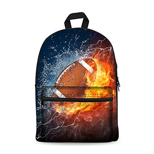 Children Laptop Bag Age7-16 Canvas 15 Inch Combustion School Bag (Football)
