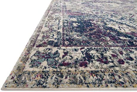 Loloi Zehla Collection Area Rug, 7 -5 x 10 -5 , Ivory Berry