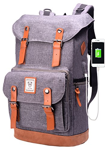 Laptop Backpack with USB Charging Port,Water Resistant Colle
