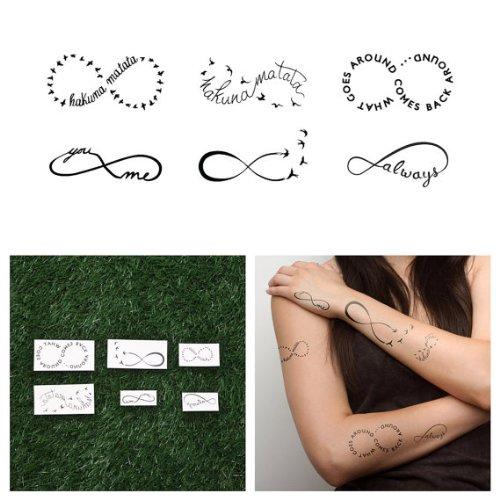 Tattify Infinity Sign Temporary Tattoos - Infinity Moods  -
