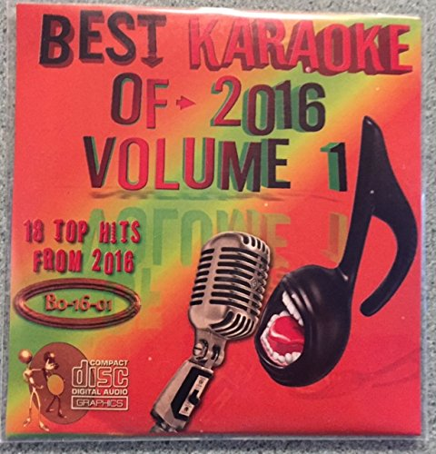 Best Of Karaoke 2016 Volume 1 CD+Graphics CDG 18 Pop & Country Tracks Nick Jonas Justin Timberlake Ellie King Pink Kelly Clarkson Mike Snow Blake Shelton Chris Stapleton Tim McGraw Meghan Trainor