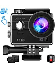 Jeemak 4K Action Cam Wi-Fi 16MP Touch Screen Impermeabile Sport Camera