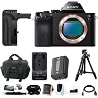 Sony Alpha a7S Mirrorless Digital Camera with Battery Grip and 39 Tripod Accessory Bundle (Body Only)