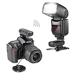 Neewer® PRO i-TTL Flash *Deluxe Kit* for NIKON DSLR D7100 D7000 D5300 D5200 D5100 D5000 D3200 D3100 D3300 D90 D800 D700 D300 D300S D610, D600, D4 D3S D3X D3 D200 N90S F5 F6 F100 F90 F90X D4S D SLR Camera- Includes: Neewer VK750 II Auto-Focus Flash + Wire