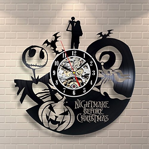 The Nightmare Before Christmas Vinyl Clock | WallOfClocks.com