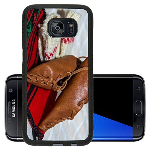 Liili Premium Samsung Galaxy S7 Edge Aluminum Backplate Bumper Snap Case Romanian traditional costume with peasant s sandal (National Romanian Costume)