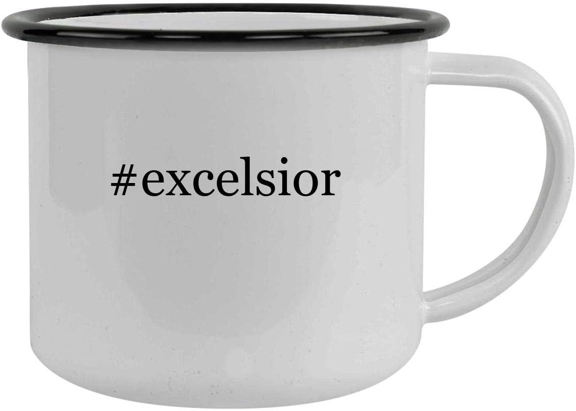 #excelsior - 12oz Hashtag Camping Mug Stainless Steel, Black