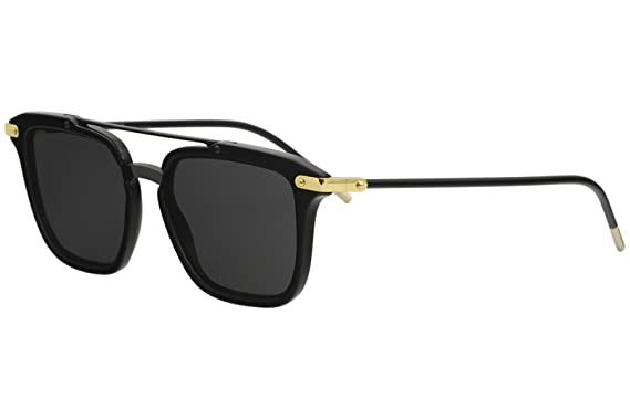 87c41f4c2f05b2 Amazon.com  Dolce   Gabbana Men s 0DG4327 Black Gold Grey One Size  Clothing