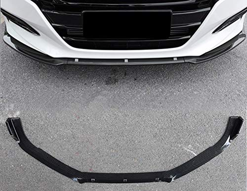 Lip Bumper Style Front - ProooAuto ABS Carbon Fiber Style Front Bumper Lip Protector Chin Spoiler Body Kit Guard 3 PCs Fit for 2018 Honda Accord 10th Gen