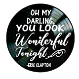 You Look Wonderful song lyrics by Eric Clapton on a Vinyl Record Album Wall Decor