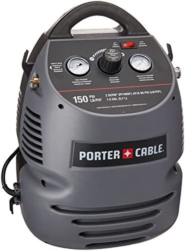 PORTER-CABLE CMB15 1.5 Gallon Oil-Free Fully Shrouded Hand Carry Compressor Kit