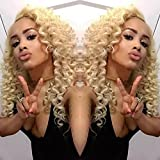 613 27 4 lace front wig - Top Blonde Afro Kinky Curly Synthetic Lace Front Wig Cheap curly hair lace front wigs 1b#1#2#4#6#30#27#33#613# (18 inch)