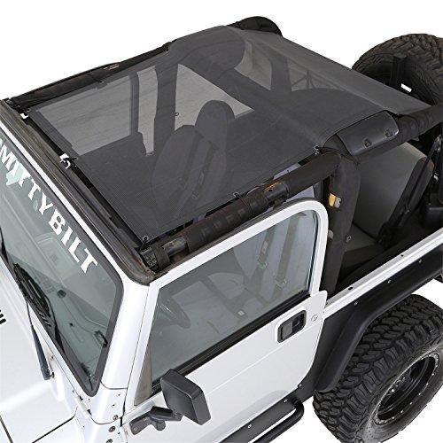 Wrangler 01 Top Jeep (Smittybilt 95600 Cloak Extended Mesh Top)