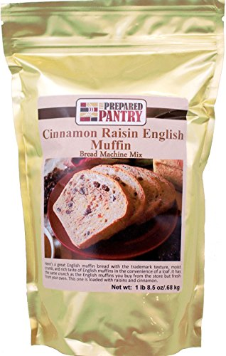 (The Prepared Pantry Cinnamon Raisin English Muffin Gourmet Bread Machine Mix, 24.5 Ounce)