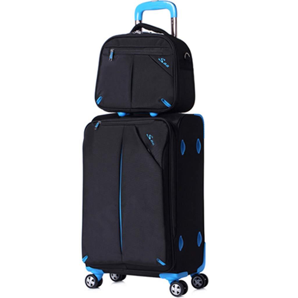 LUJIANJU 家族旅行トロリーバッグ、荷物袋、トロリーバッグ+ハンドバッグ、アイテム収納袋、ショルダーバッグ - 防水、boardingv LUJIANJU (Color : Black, Size : 75L) B07L2W4M2V Black 75L