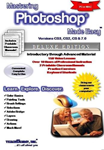 mastering photoshop made easy training tutorial v cs3 cs2 cs 7 rh amazon com Adobe Photoshop 7.0.1 Update Adobe Photoshop 7.0 Setup