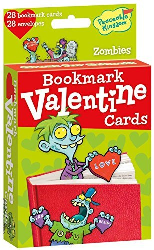 Peaceable Kingdom 28 Card Pop-Out Zombie Bookmark Valentines with Envelopes ()