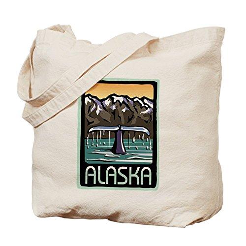 CafePress - Alaska Pride! - Natural Canvas Tote Bag, Cloth Shopping - Shopping Anchorage
