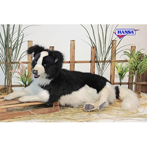 - Life-like Handcrafted Extra Soft Plush Laying Border Collie Stuffed Animal 33.5