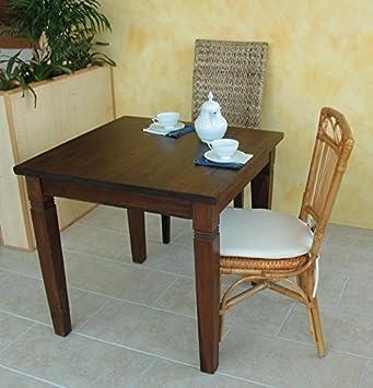 Tavolo da pranzo quadrato 80x80 cm in legno massello di Teak ...