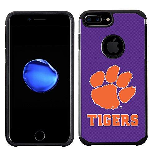 (Prime Brands Group Textured Team Color Cell Phone Case for Apple iPhone 8 Plus/7 Plus/6S Plus/6 Plus - NCAA Licensed Clemson University Tigers)