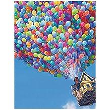 Whitelotous 5D Diamond Painting Balloon House Embroidery DIY Cross Stitch Home Decor 40 x 30cm
