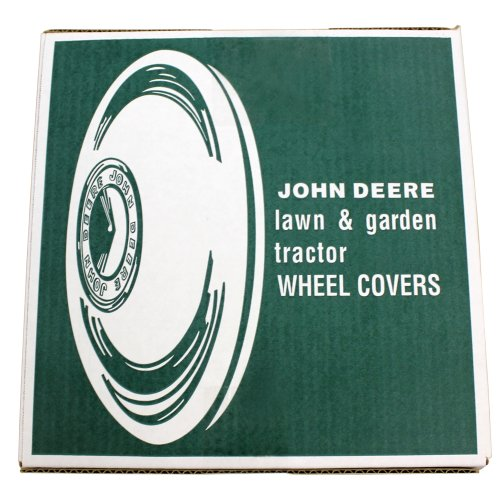 John Deere M42184 12 Inch Rim Chrome Wheel Covers Moons Hub Caps (Set of 2)
