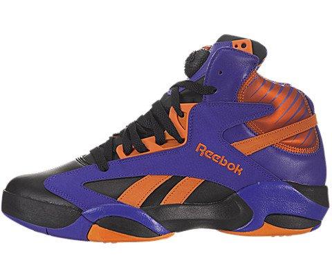 Reebok Shaq Attaq Pump Retro (The Big Shaqtus-Phoenix Suns) Black/Purple-Orange (Phoenix Suns Black Leather)