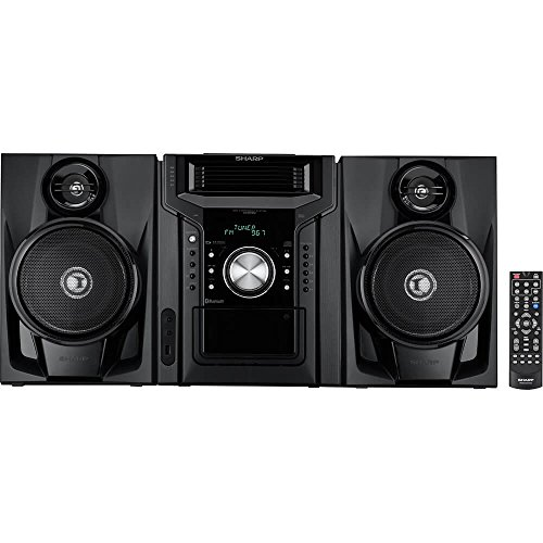 Sharp CDBH950 240W 5-Disc Mini Shelf System with cassette and Bluetooth Black
